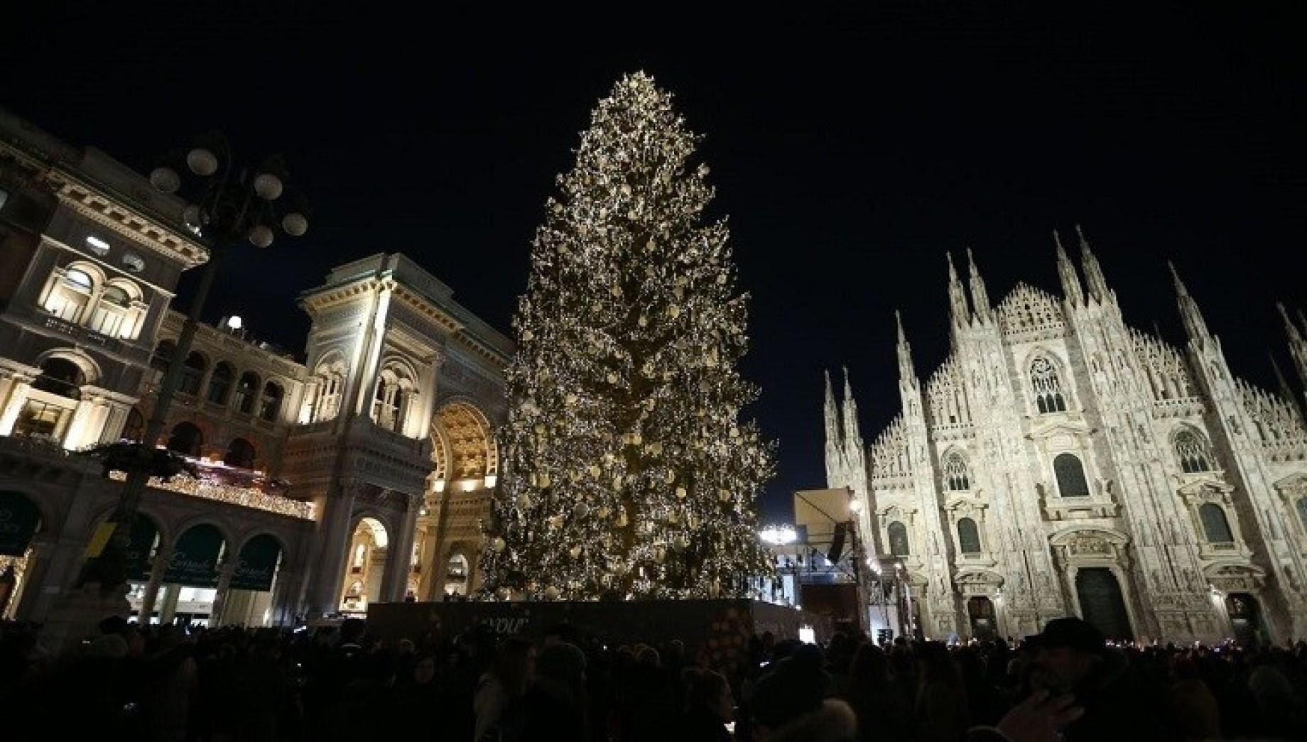 Natale a Milano: albero in Duomo