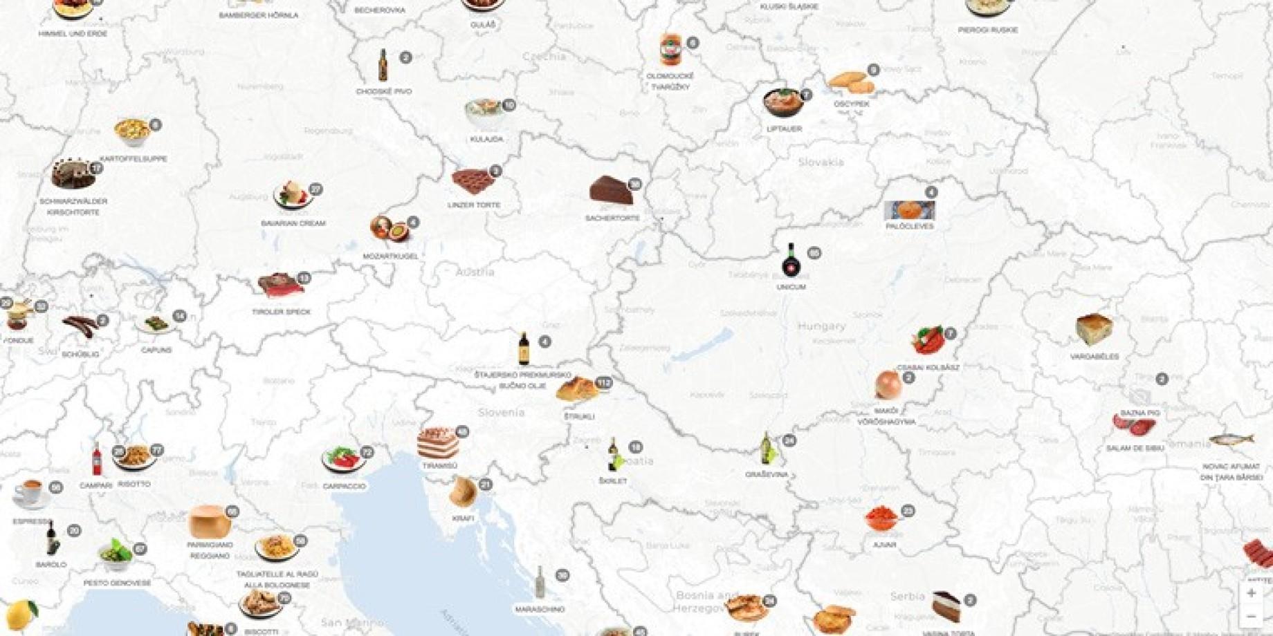 mappa cibo